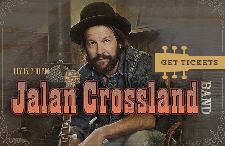 Jalan Crossland will play an outdoor concert July 15 at Miner Brewing Company.