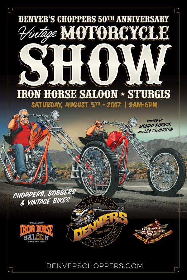 Vintage Motorcycle Show at the 77th Annual Sturgis Rally