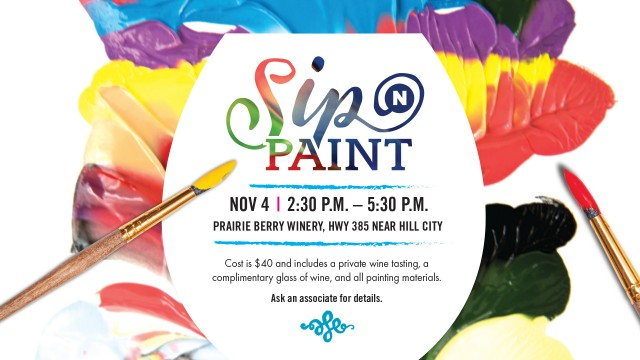 Whether you're a beginner painter wanting to learn how to paint or just want to enjoy some laughs and good wine with friends, this Nov. 4 event will teach you not to be afraid of painting.